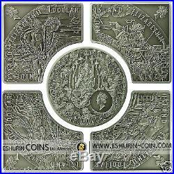 Niue 2012 5x1$ Horsemen of Apocalypse 5 Coin Set Albrecht Durer Silver Coins