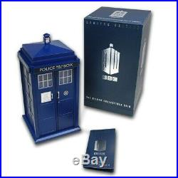 Niue 2013 1 OZ Silver Proof Coin- Tardis Doctor Who 50th Anniversary! Rare