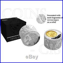 Niue 2013 50$ Fortuna Redux Mercury 6oz 1st Cylinder Shape Proof Silver Coin