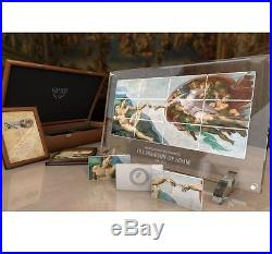 Niue 2013 $5 Giants of Art The Creation of Adam 12x 80g Silver Proof Coin Set