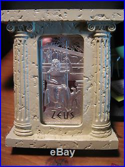 Niue 2013 5$ Gods of Ancient Greece Zeus 2 oz Proof Silver Coin LIMITED