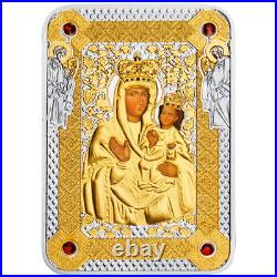 Niue 2014 1$ Icon of Zarvanysia Mother of God Proof Silver Coin