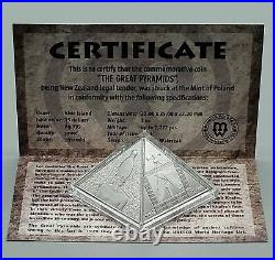 Niue 2014 Great Pyramids Masterpiece of Mint Art 3 Oz Silver Coin