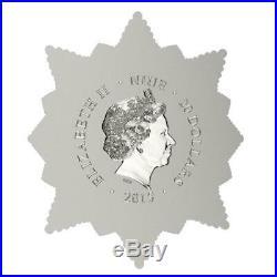 Niue 2015 $20 Orthodox Shrines Mother of God of Tashla 4 Oz Gilded Silver Coin