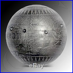 Niue 2015 7$ Seven New Wonders of the World 7oz. 999 fine silver spherical coin
