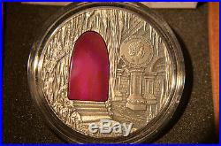 Niue 2015 Crystal Art IV Hogwarts Castle, 2 oz fine Silver Coin