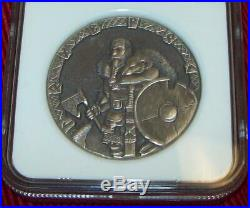 Niue 2015 Two $2 Dollars Ngc 69 Ragnar Lothbrok Vikings Gods 2oz Silver Coin
