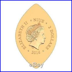 Niue 2016 $2 Icon World Heritage Solomon 1 Oz Silver Gilded Coin LIMITED