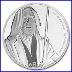 Niue 2017 1 OZ Silver Proof Coin Star Wars Classic Obi-Wan Kenobi