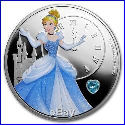 Niue 2018-2019 -Silver $2 Proof Coin- 1 OZ Disney Princess Gemstone Series