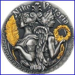 Niue 2018 2 Oz Silver VICTORIA AND NIKE Goddesses Coin