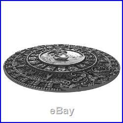 Niue 2018, MAYAN CALENDAR, Ancient Calendars, 2oz $5 Silver Coin