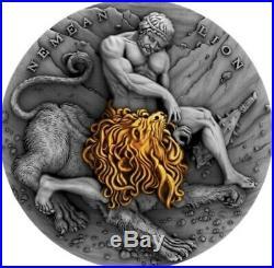 Niue 2018 Nemean Lion TWELVE LABOURS OF HERCULES 2 Oz Silver Coin BOX COA EBUX