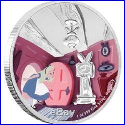 Niue -2018- Silver $2 Proof Coin Set- 4x1 OZ Alice in Wonderland