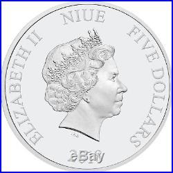 Niue -2018- Silver $5 Proof Coin- 2 OZ Silver Star Wars Death Star