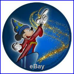 Niue 2019 $2 Mickey Mouse Fantasia with Diamond Dust 1 Oz Silbermünze