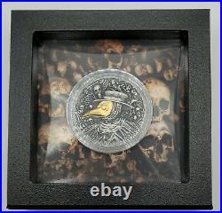 Niue 2019 Mask of Plague Doctor High Relief 2 Oz Silver Coin