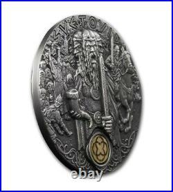 Niue 2019 SVETOVID Slavic Gods 2 Oz 2$ Silver Coin