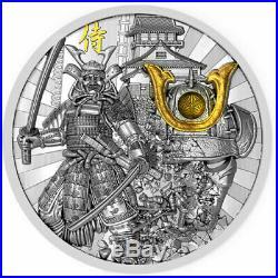 Niue 2019 Samurai Warriors 2 oz 5$ Antique finish Silver Coin