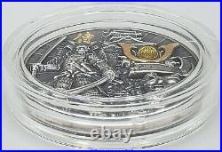 Niue 2019 Samurai Warriors High Relief 2 Oz Silver Coin