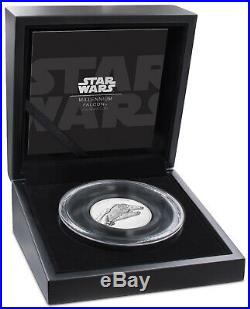 Niue -2019 Silver $5 Proof Coin- 2 OZ Silver Star Wars Millennium Falcon
