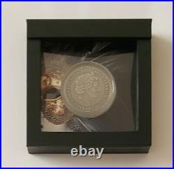 Niue 2019 Venetian Mask High Relief Silver Coin Ag 999 24K gilding