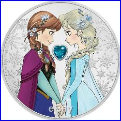 Niue 2020 1 OZ Silver Proof Coin- Disney Frozen Sisters Forever