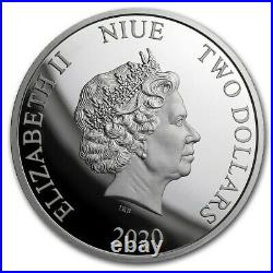 Niue 2020 1 OZ Silver Proof Coin- JUSTICE LEAGUE BATMAN 60th Anniversary