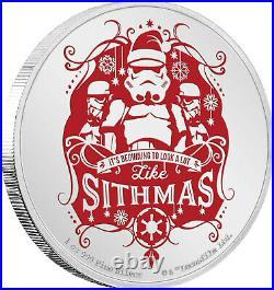 Niue 2020 1 OZ Silver Proof Coin Star Wars Seasons Greetings