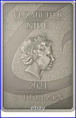 Niue -2021- 1 OZ Silver Proof- Nightmare Before Christmas Oogie Boogie