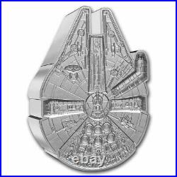 Niue -2021 1 OZ Silver Proof Star Wars Millennium Falcon Shaped Coin