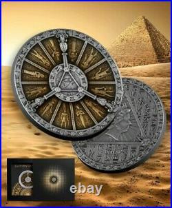 Niue 2021 Egyptian Calendar Ancient Calendars 2 oz Silver Coin Pre-sale