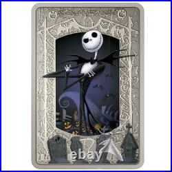Niue 2021 The Nightmare Before Christmas Jack Skellington $2 silver coin