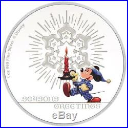 Niue 2 Dollar 2016 Disney Season's Greetings Classic (2.) 1 Oz Silber PP