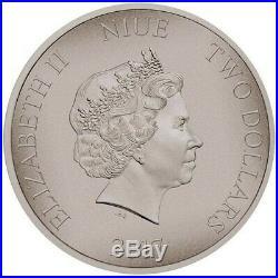 Niue 2 Dollar 2017 Hunnen Krieger der Geschichte (10.) 1 Oz Silber AF