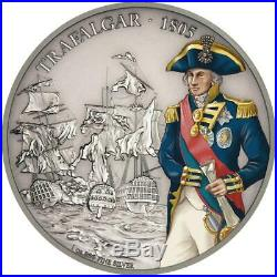 Niue 2 Dollar 2017 Schlacht von Trafalgar (3.) in Farbe 1 Oz Silber AF