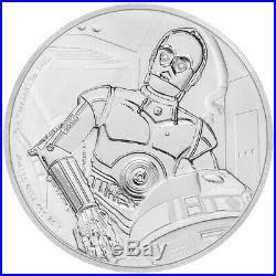 Niue 2 Dollar 2017 Star Wars Classics C-3PO (9.) 1 Oz Silber PP
