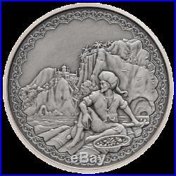 Niue 2 Dollar 2019 Sindbad der Seefahrer (2.) 1 Oz Silber Antik Finish