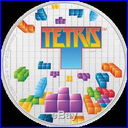 Niue 2 Dollar 2019 Tetris Lentikulardruck in Farbe 1 Oz Silber PP