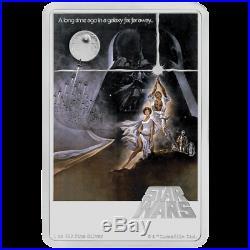 Niue 2 Dollar 2020 Star Wars Posters Eine neue Hoffnung 1 Oz Silber PP