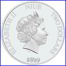 Niue 2 Dollar 2020 Star Wars Todesstern 1 Oz Silber PP