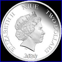Niue 2 Dollar 2020 Zurück in die Zukunft 35. Jubiläum 1 Oz Silber PP