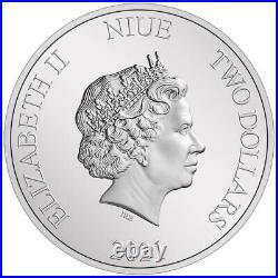 Niue 2 Dollar 2021 Herr der Ringe Classic Sauron (1.) 1 Oz Silber PP