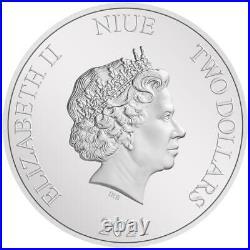 Niue 2 Dollar 2021 Mandalorian (2.) Cara Dune 1 Oz Silber PP