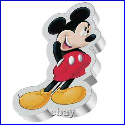 Niue 2 Dollar 2021 Mickey & Friends Shaped Mickey Mouse (1.) 1 Oz Silber PP