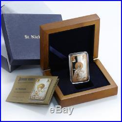 Niue 2 dollars Icon St. Nicholas basilica silver rectangular coin 2014