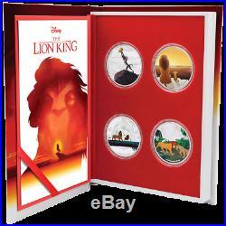 Niue 4 x 2 Dollar 2019 Disney König der Löwen Satz 4 x 1 Oz Silber PP