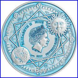 Niue 5$ 2017 Silver 2oz Ø50 SUN & MOON Second coin from Celestial Bodies series