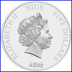Niue 5 Dollar 2018 Star Wars Todesstern (5.) 2 Oz Silber PP High Relief