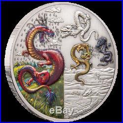 Niue 5 Dollar 2019 Die Vier Drachen (2.) 2 Oz Silber AF
